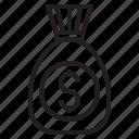 bag, bank, dollar, financial, money, tranfer, usd icon