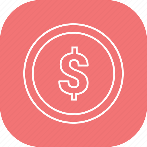 currency, dollar, sign, us icon