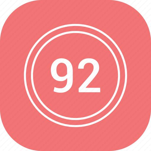 chart, count, ninty two, number icon