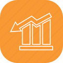 arrow, bar, business, graph, growth, report icon