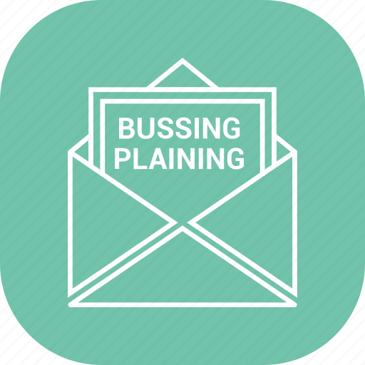 bussing plaining, letter, mail, open icon