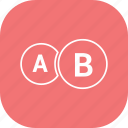 ab, chart, diagram, graph, pie chart, pie graph icon