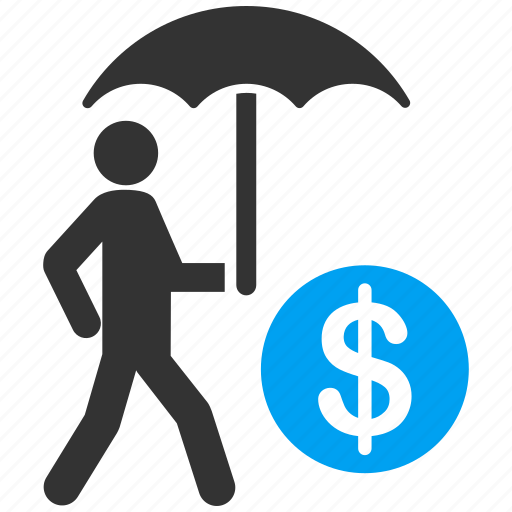 care, euro, financial insurance, protection, safety, security, umbrella icon
