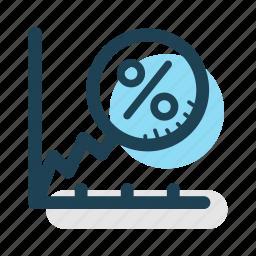 business, economy, growth, increase, percentage, revenue, statistics icon
