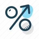 business, economy, growth, increase, percentage, revenue, statistics icon
