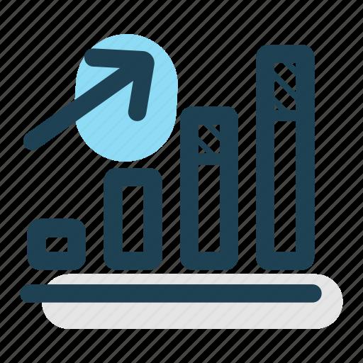 analyze, chart, graph, growth, increase, revenue, statistics icon