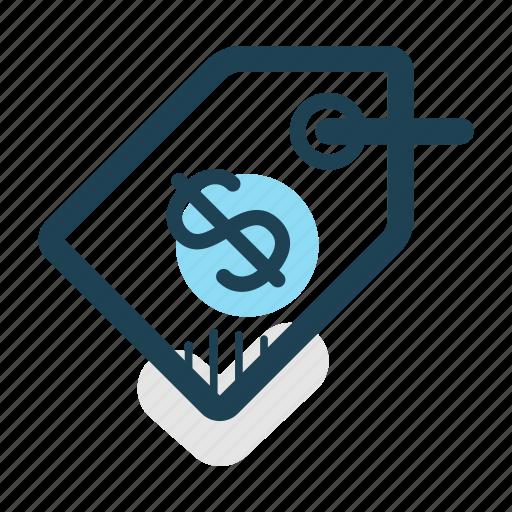 dollar, label, price, price tag, sales, tag, trade icon