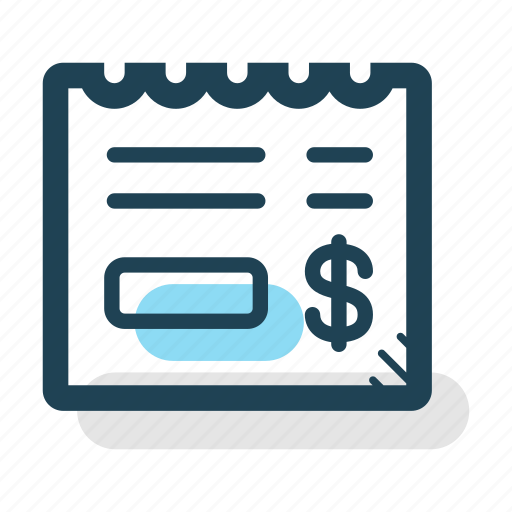 bill, contract, invoice, payment, purchase, receipt, tax icon