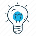 concept, idea, innovation, light bulb, productivity icon