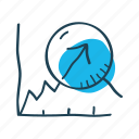 gain, graph, growth, increase, profit, revenue, statistics icon