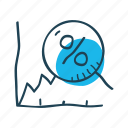 analysis, graph, growth, increase, percentage, profit, statistics icon