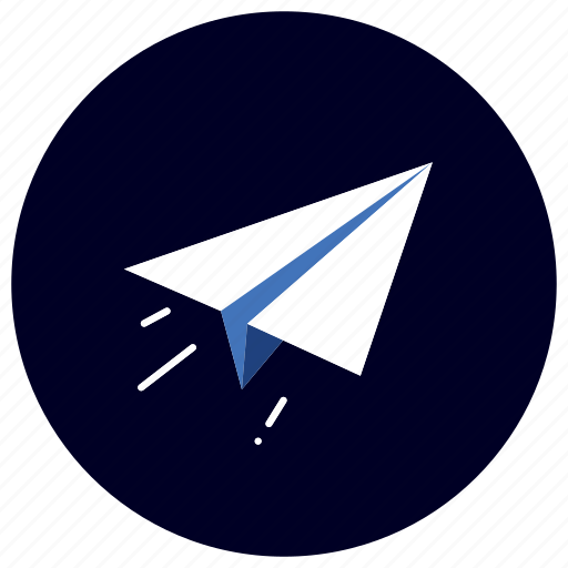 airplane, business, ecommerce, finance, marketing, send, share icon