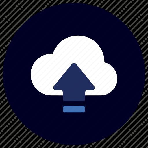 arrow, business, cloud, ecommerce, finance, marketing, upload icon
