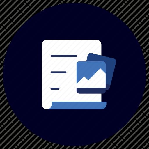 business, documentation, ecommerce, finance, images, marketing, photos icon