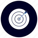 archer, bullseye, business, ecommerce, finance, marketing, target icon
