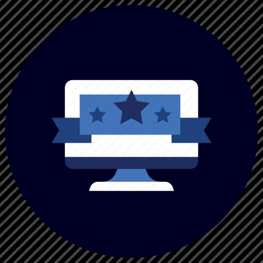 award, business, ecommerce, finance, marketing, ribbon, website icon