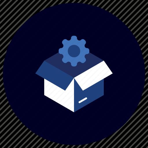 box, business, ecommerce, finance, idea, marketing, problem solving icon