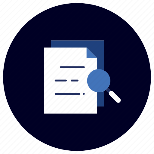 business, document, ecommerce, finance, marketing, search, zoom icon