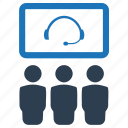 conference, teleconference, video call, video conference icon