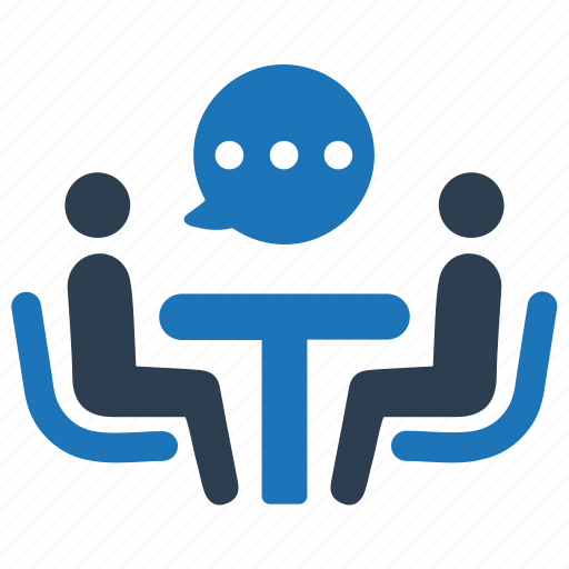 business talk, consulting, discussion, meeting icon