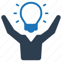brainstorming, business, creative, idea, innovation, solution icon