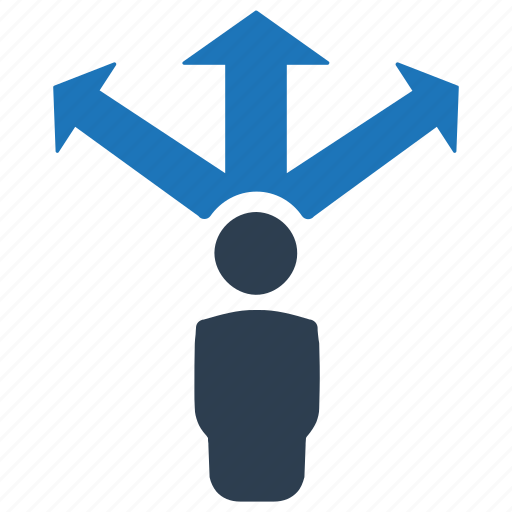 business, direction, movement, vision icon