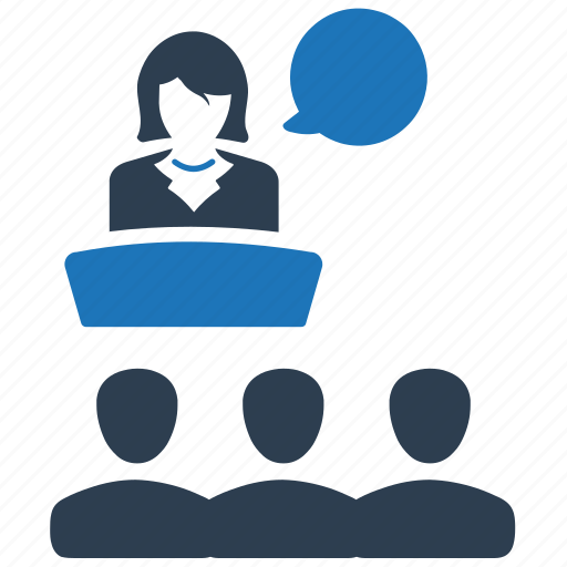 audience, business, conference, presentation icon
