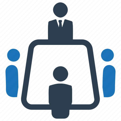 business meeting, businessman, meeting room icon