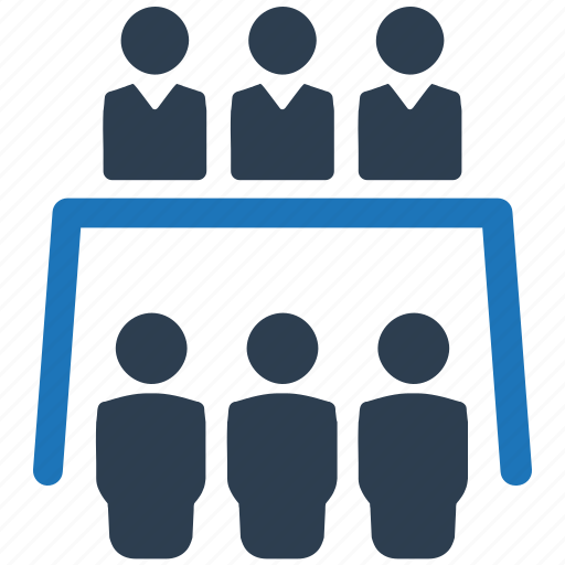 business conference, meeting, teamwork icon
