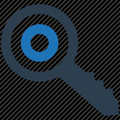 key, keyword targeting, target icon