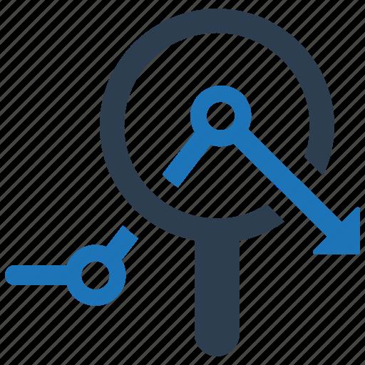 business analysis, data, graph, monitoring icon