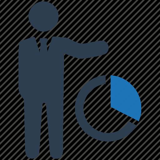 analytics, business presentation, pie chart, statistics icon