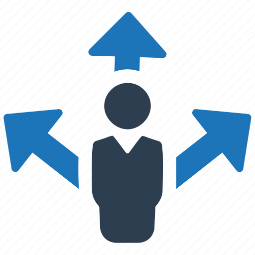 business, decision, direction icon