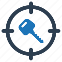 key, security, target icon