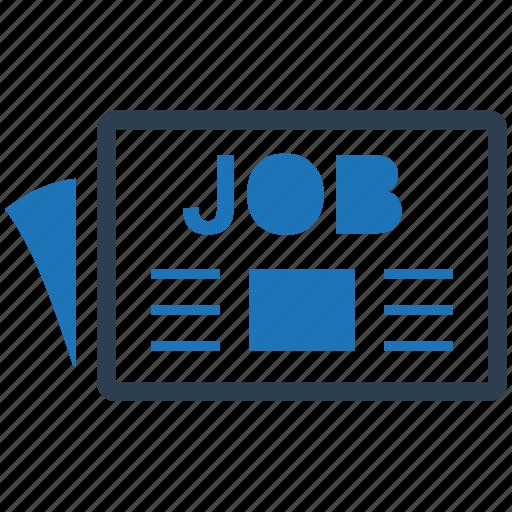 advertisement, career, job icon