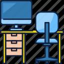 office, business, computer, desk, work, technology, chair