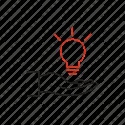 hand, idea, inspiration, investment, motivation icon