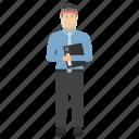 businessman, guider, motivator, performance manager, trainer, face shield, face visor