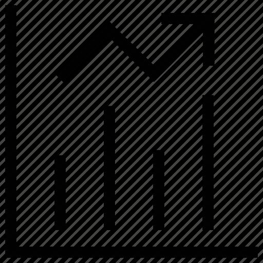 bar chart, bar growth, benefit chart, business growth, progress chart icon