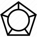 pentagon chart, pentagon stat, pentagonal chart, pentagonal diagram, pentagonal infographic icon
