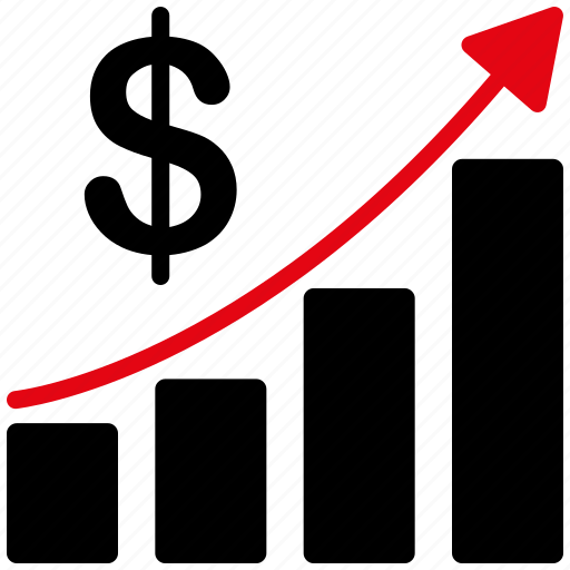 arrow, business, chart, concept, graph, growth, success icon