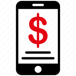 bank, finance, mobile, money, phone, purse, wallet icon