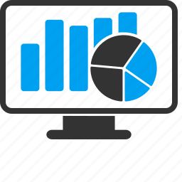 analytics, diagram, graph, monitor, powerpoint, report, sales chart icon