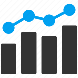 analytics, bar chart, data, diagram, financial graph, report, statistics icon
