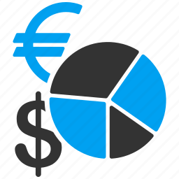 chart, euro, finance, financial report, graph, money, statistics icon