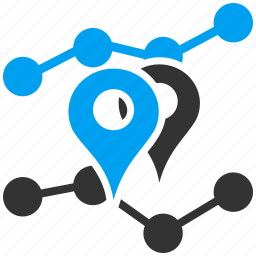 analytics, chart, geo location, graph, report, seo, statistics icon