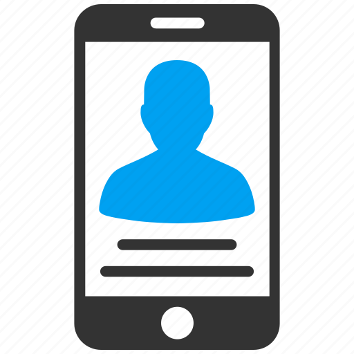 android, communication, contact, mobile, phone, profile, user account icon