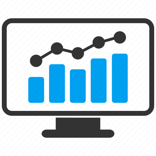 adwords, analytics, chart monitoring, display, graph, report, stats icon