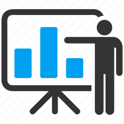 business plan, chart, conference, meeting, office, sale report, statistics icon