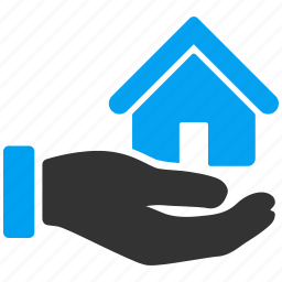 building, company, hand, home, house, real estate, service icon
